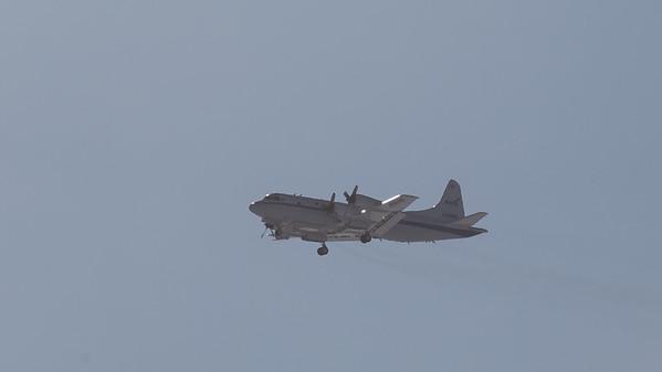 The NASA P-3 arriving back at Thule from maintenance down at NASA Wallops Flight Facility