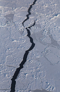 A lead in some mixed-year ice
