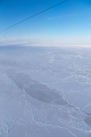 A large area of very flat ice - remnants of the polynya from over a month ago