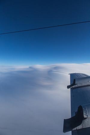 lenticular clouds over upper Nares Strait