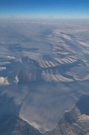Glaciers along the edge of the Prince of Whales Icefield