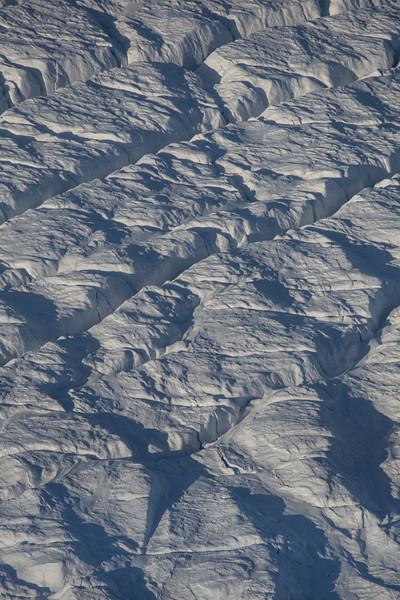 Cracks in upper Petermann Glacier