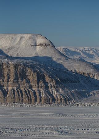 The western edge of Petermann Glacier