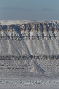 The western edge of the canyon along Petermann Glacier