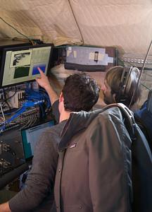 John explaining the MCoRDS radar to Jacob