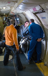 Jacob Soboroff from NBC's The Today Show, interviewing Joe on the P-3