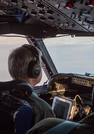 Mike flying over Humboldt Glacier