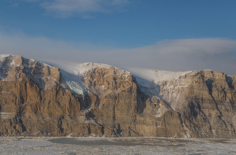 The western edge of Petermann Glacier
