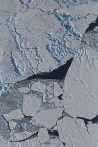 Some submerged sea ice in a lead