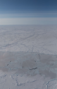 Ice along the northern portion of the flight line