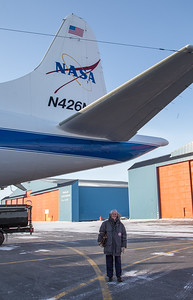 Claire with NASA 426 after the flight