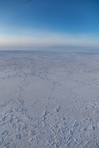 Consolidated pack ice north of Greenland