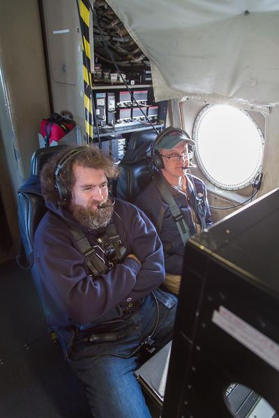John & Craig at the navigator's station during transit