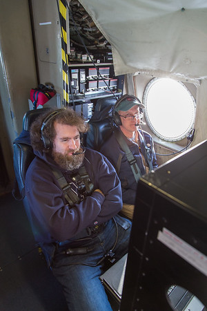 John & Craig at the navigator's station during transit