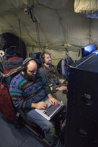 Aaron and John prepare/test the radar systems en-route to the first line