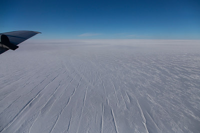 Crevasses as we cross the Northeast Greenland Ice Stream