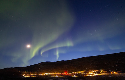 The Aurora over the Kanger airport