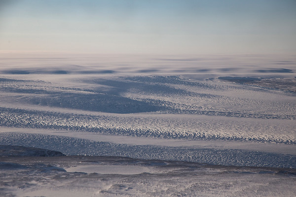 Crevasses on upper Heilprin Glacier