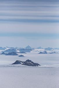 Nunataks and mountains in King Christian X Land