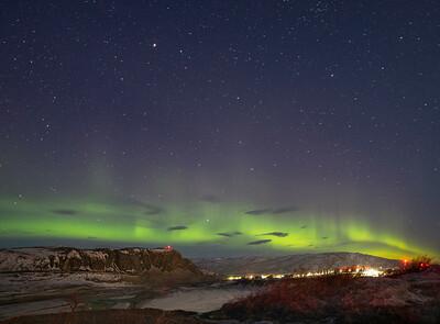 The Aurora over Black Ridge and part of Kangerlussuaq