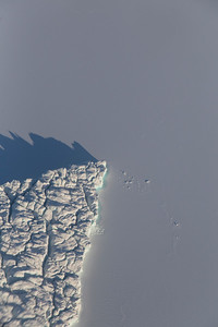 Close-up of an iceberg in Inglefield Fjord
