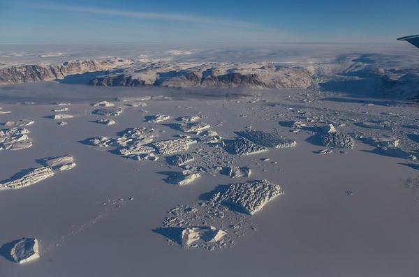 Icebergs in upper Inglefield Fjord