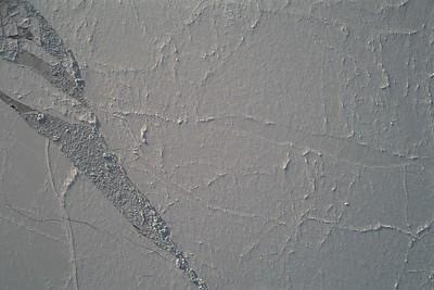 A lead full of sea ice rubble