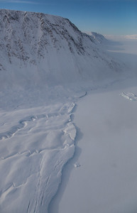 The calving front of Antoinette Glacier