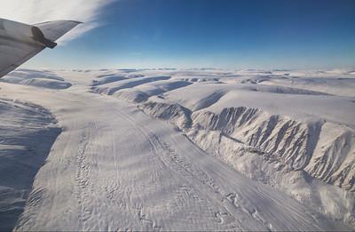 Looking up Antoinette Glacier