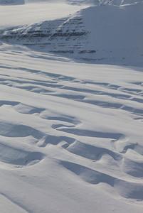 Snow-filled meltwater channels on Glacier 259