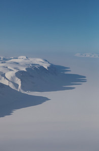 Looking out across the sea ice of Antoinette Bay