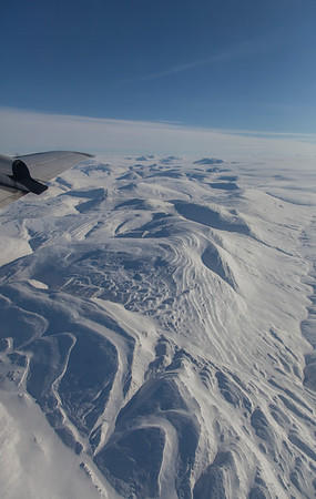 Snow covered terrain just south of Greely Fiord