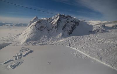 The calving front of Dobbin Glacier