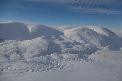 Crevasses along the edge of d'Ilberville Glacier