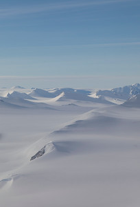 The terrain in the middle of the Agassiz Icecap