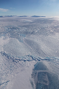 Frozen melt-ponds on the surface of Zachariae Isstrom