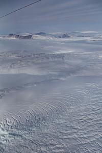 Crevasses along the edge of Igssussarssuit Sermia