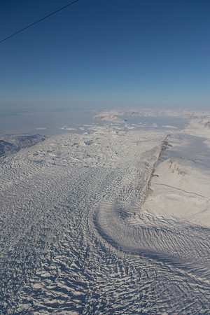 Tracy glacier, heading around a bend