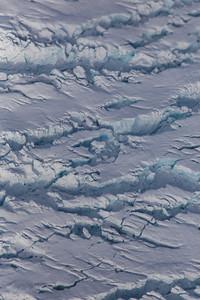 A close-up of crevasses on Igssussarssuit Sermia
