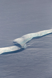 A frozen meltwater channel on Humboldt Glacier