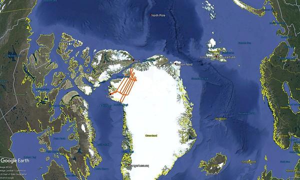 ICESat-2 North flight line