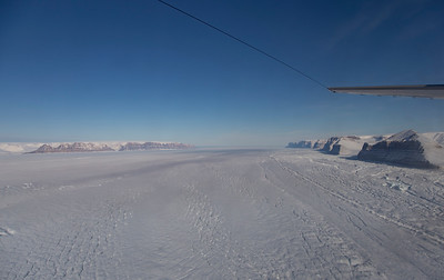Looking down Petermann Glacier towards the Nares Strait