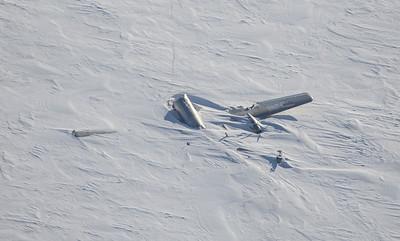 "The wreckage of the ""Kee Bird"" in Washington Land"