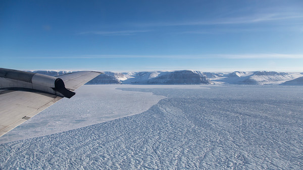 The calving front of Petermann Glacier