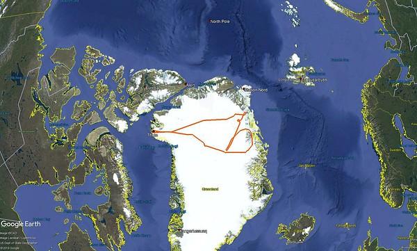 Northeast Glaciers 02 flight line