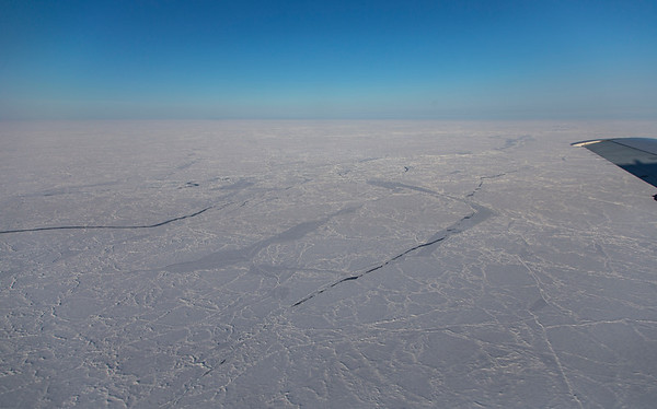 Small cracks in the pack ice