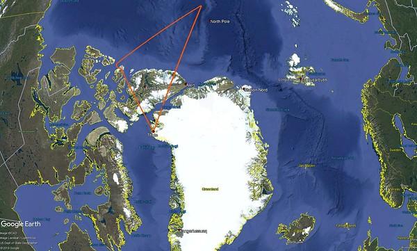 ICESat-2 Arctic Ocean #3 (long line) flight line