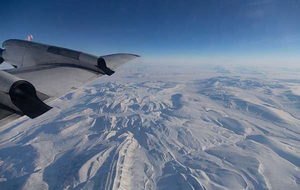 View out over Ellesmere Island on our transit to the science line