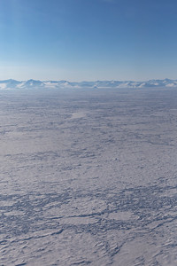Over sea ice along the northern Greenland coast of Peary Land