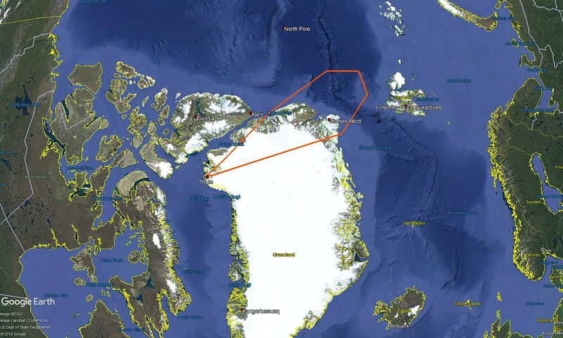 Nansen Gap flight line